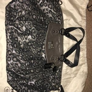 Coach cheetah print purse